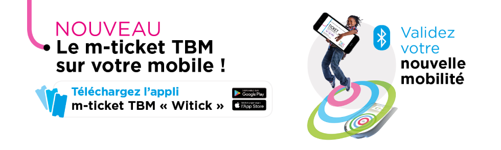 Ticket TBM sur mobile