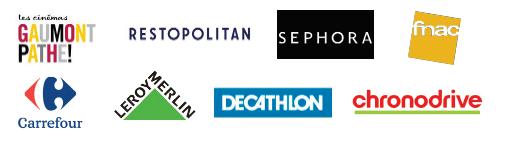 Quelques-uns des partenaires bons plans Guest Club by Apetiz : cinémas Gaumont Pathé, Restopolitain, Sephora, Fnac, Carrefour, Leroy Merlin, Decathlon, Chronodrive